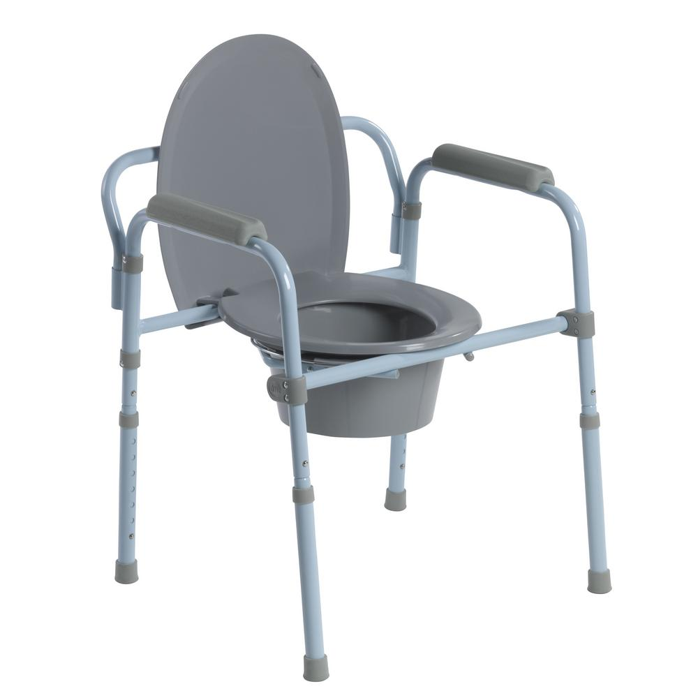 Bedside Commode Toilet Bathroom Elevated Seat Chair Portable ...