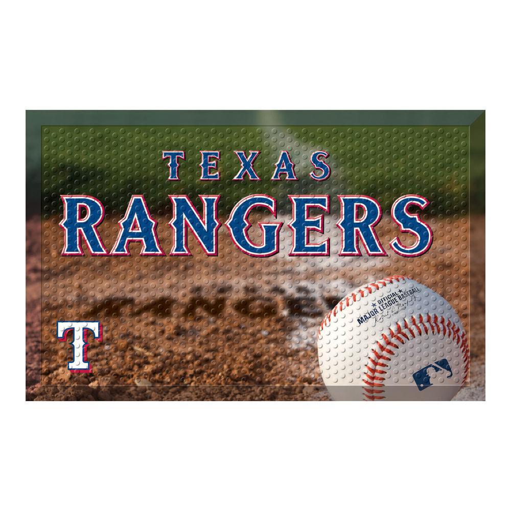 MLB - Texas Rangers 19 in. x 30 in. Indoor/Outdoor Scraper Mat Door Mat