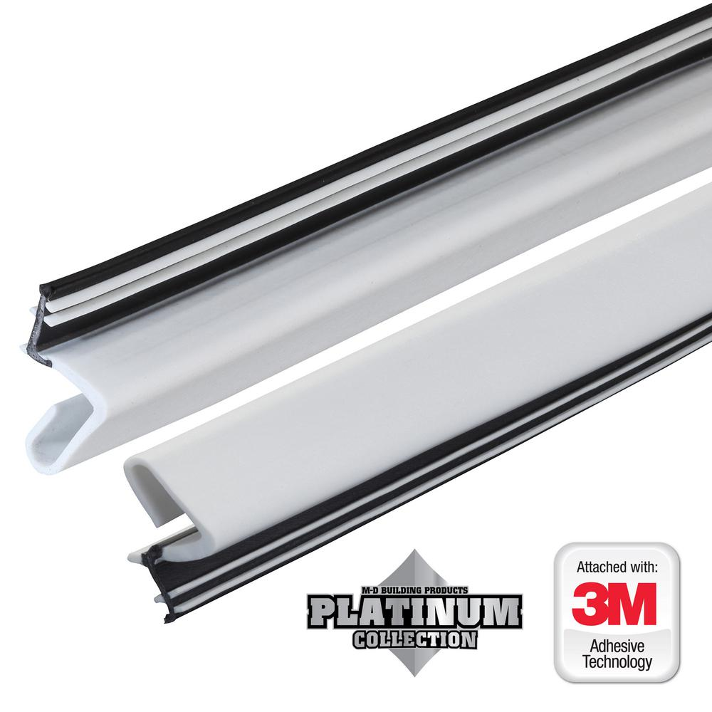 Platinum White Collection Door Weatherstrip Replacement  sc 1 st  The Home Depot : door weatherstripping - pezcame.com