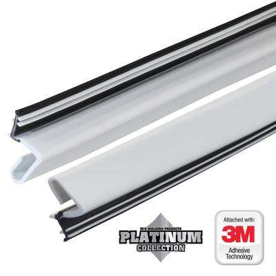 84 in. Platinum White Collection Door Weatherstrip Replacement
