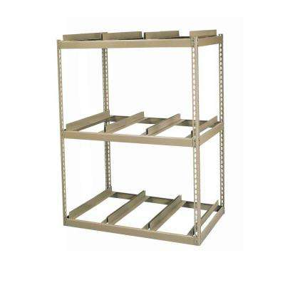 60 in. H x 42 in. W x 16 in. D 3-Shelf Steel Commercial Shelving Unit in Tan