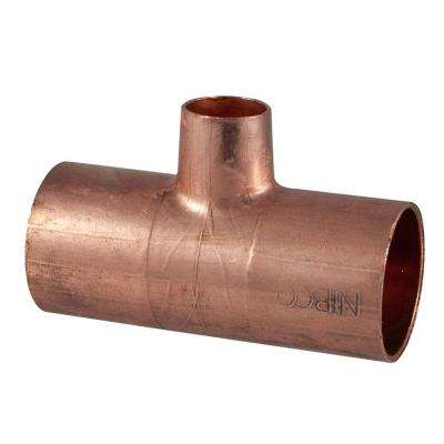 3/4 in. x 3/4 in. x 1/2 in. Copper Pressure Cup x Cup x Cup Reducing Tee