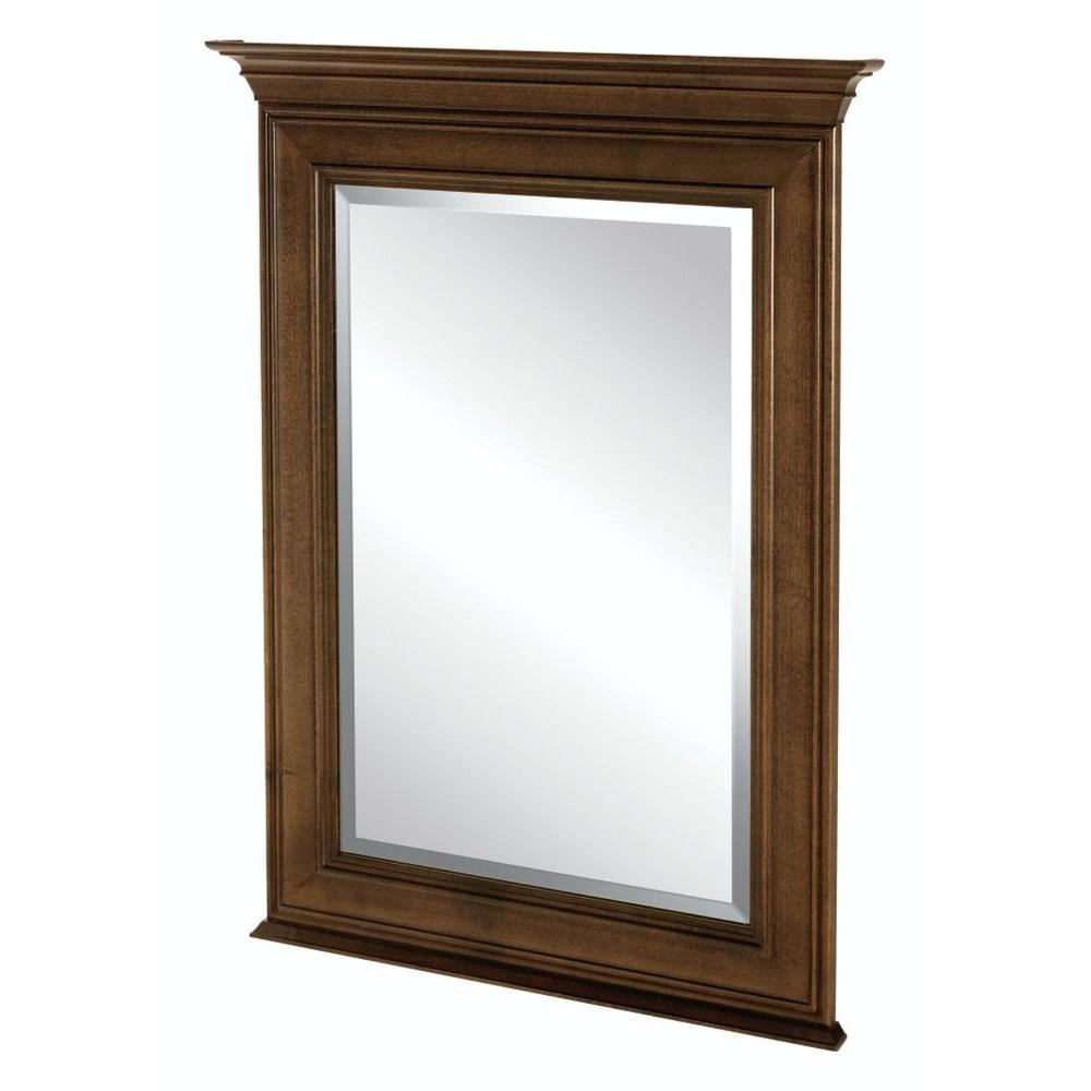 Home decorators collection templin 34 in l x 25 in w framed vanity wall mirror in coffee - Home decor wall mirrors collection ...