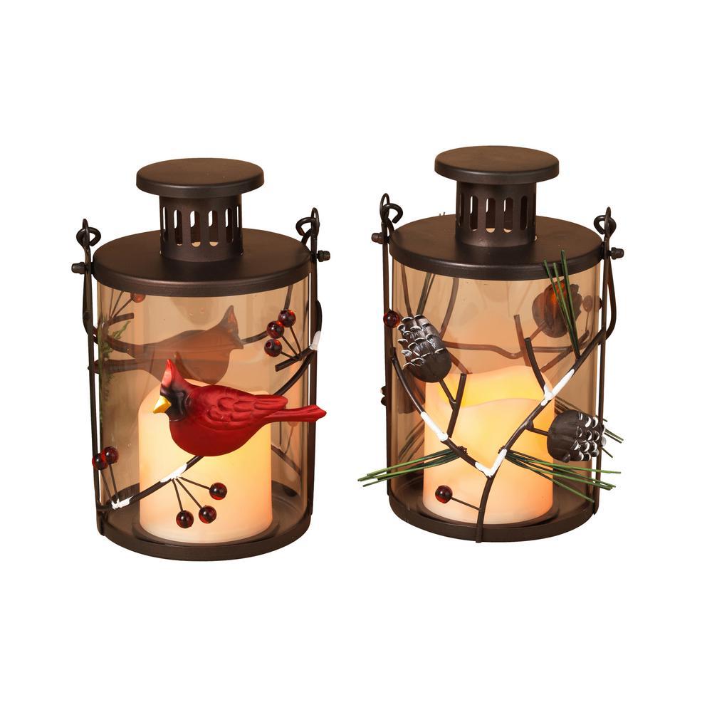 8 in. Holiday Lanterns (Set of 2)