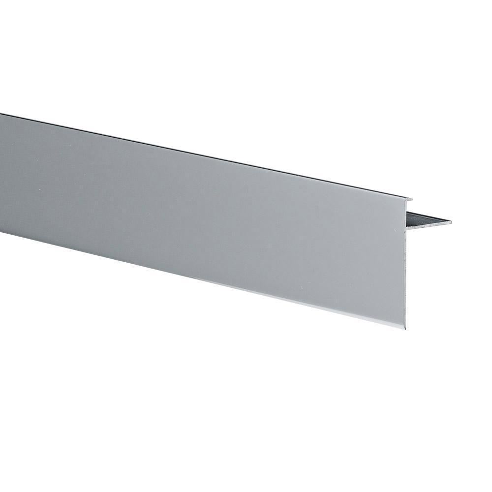 Emac Novoperi Mirror Bright 1/2 in  x 98-1/2 in  Aluminum Tile Edging Trim