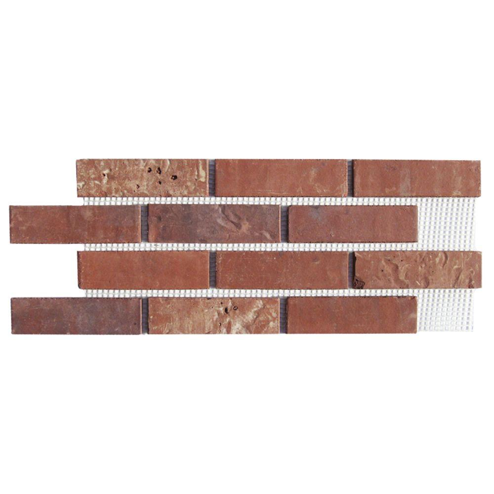 Old Mill Brick Brickwebb Independence Thin Brick Sheets - Flats (Box of 5 Sheets) - 28 in x 10.5 in (8.7 sq. ft.)