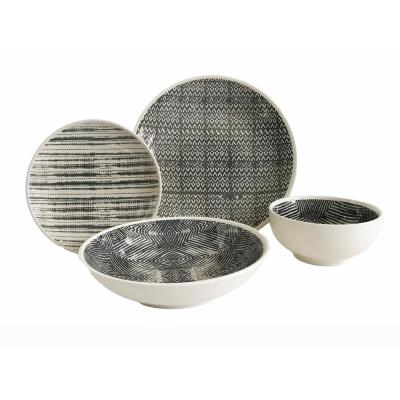 Dalton 16-Piece Grey Dinnerware Set