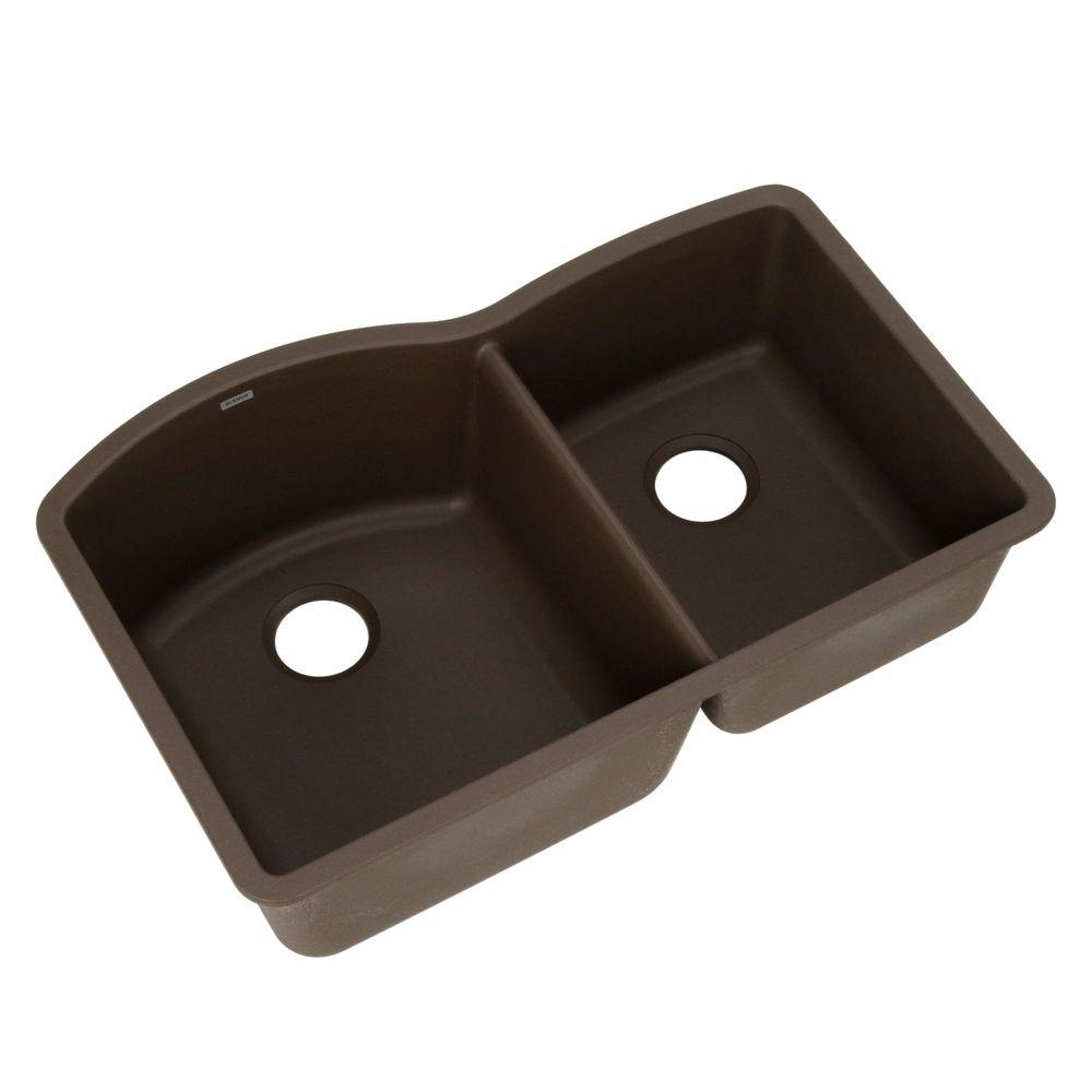 Diamond Undermount Granite Composite 32 in. 0-Hole 1-3/4 Bowl Kitchen Sink