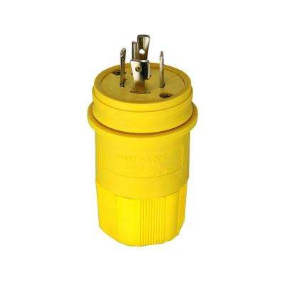 20 Amp 480-Volt Hart-Lock Watertight Plug, Yellow