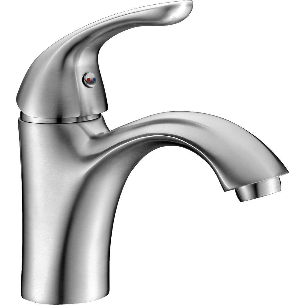 ANZZI Clavier Series Single Hole Single-Handle Mid-Arc Bathroom Faucet in Brushed Nickel