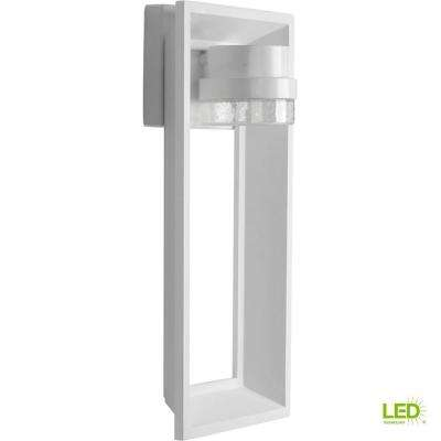 Z-1010 Collection 9-Watt 16 in. Outdoor Bright White Integrated LED Wall Lantern Sconce