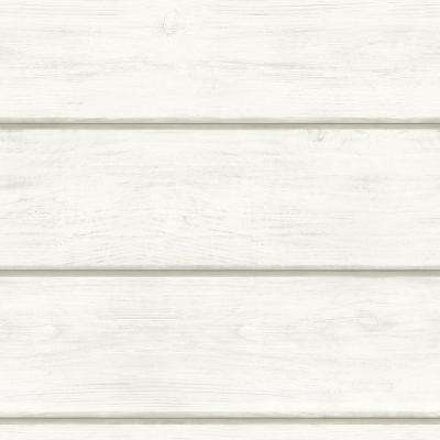 56.4 sq. ft. Susanna Off-White Wood Planks Wallpaper
