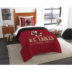 Boston College 2-Piece Modern Take Multi Twin Comforter Set by