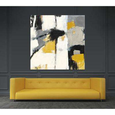 "54 in. x 54 in. ""Yellow Catalina I"" by Mike Schick Printed Framed Canvas Wall Art"