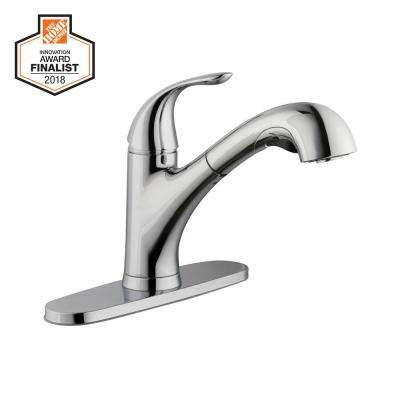 Market Single-Handle Pull-Out Sprayer Kitchen Faucet in Chrome