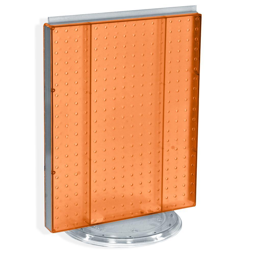 20.25 in. H x 16 in. W Revolving Pegboard Counter Display Orange