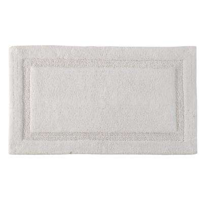 Regency 34 in. x 21 in. Washable Bath Rug in White