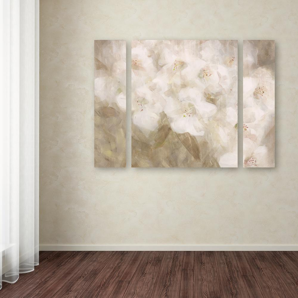 Trademark Fine Art 24 In X 32 In Quot Wild Flowers Ii Quot By Li