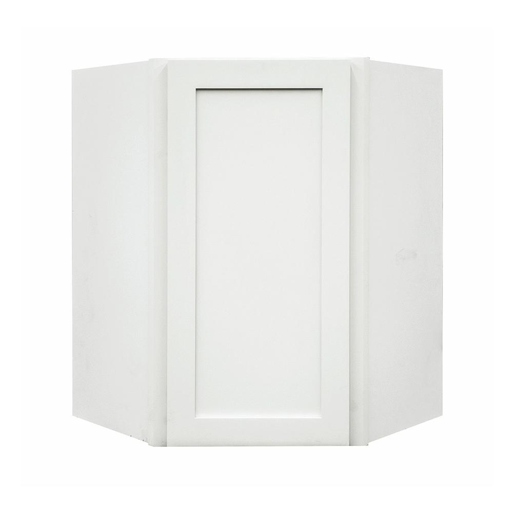 Frosted White Shaker II Ready to Assemble 24x36x24 in. 1-Door 2-Shelf