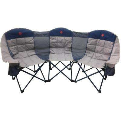 MoonPhase Triple Love Seat Heavy-Duty Quad Folding Camp Chair
