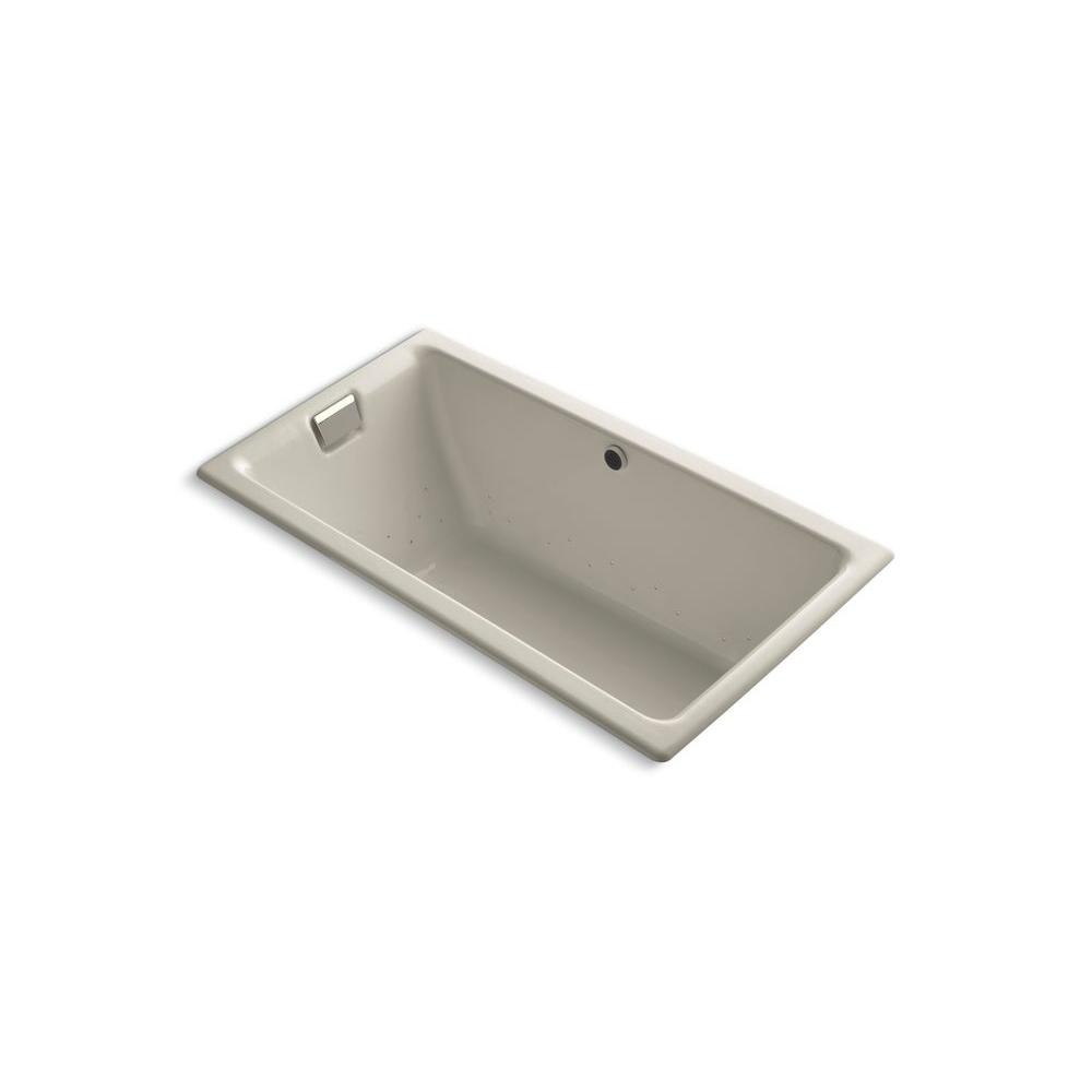 KOHLER Tea-for-Two 5.5 ft. Rectangle Air Bath Tub in Sandbar