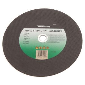 Forney 12 inch x 1/8 inch x 1 inch Masonry Type 1 C20R-BF Chop Saw Blade by Forney