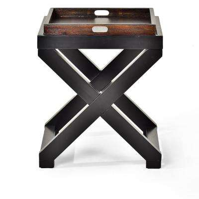 Alanis Brown End Table with Tray