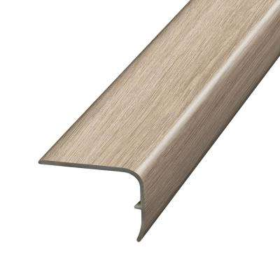 Beacon Oak Light 1.32 in. Thick x 1.88 in. Wide x 78.7 in. Length Vinyl Stair Nose Molding