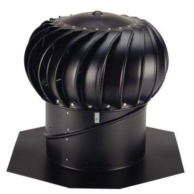12 in. Black Aluminum Internally Braced Wind Turbine