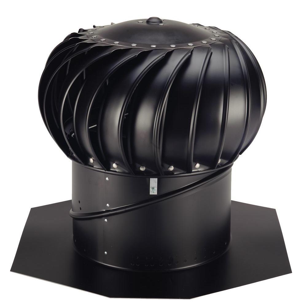 12 in. Black Aluminum Internally Braced Wind Turbine