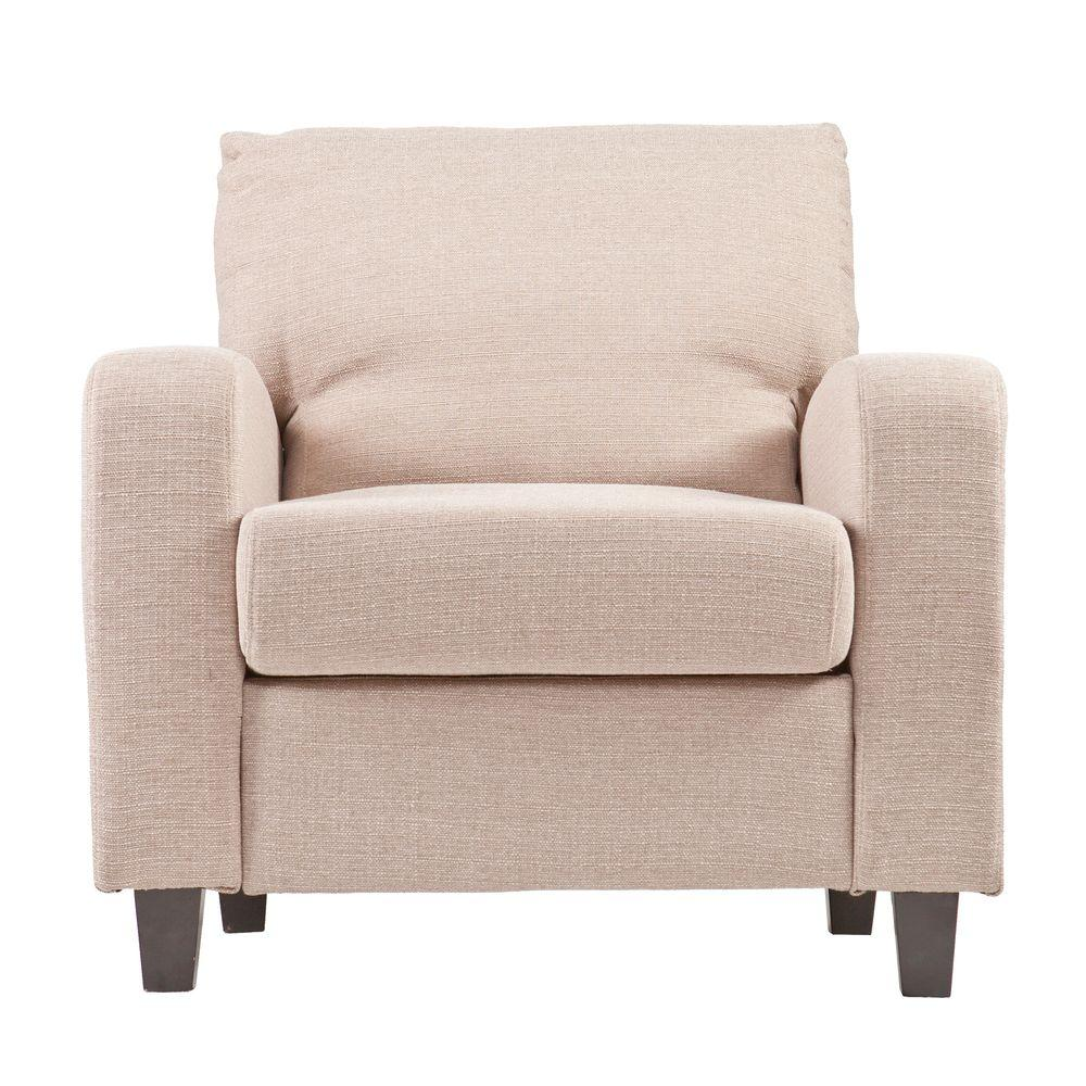 Southern Enterprises Kabira Oyster Polyester Upholstered Arm Chair