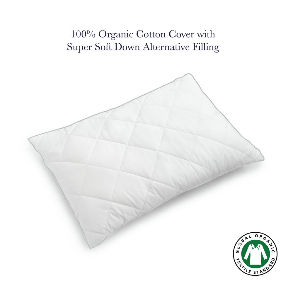 A1HC Quilted Down Alternative Organic Cotton Pillow