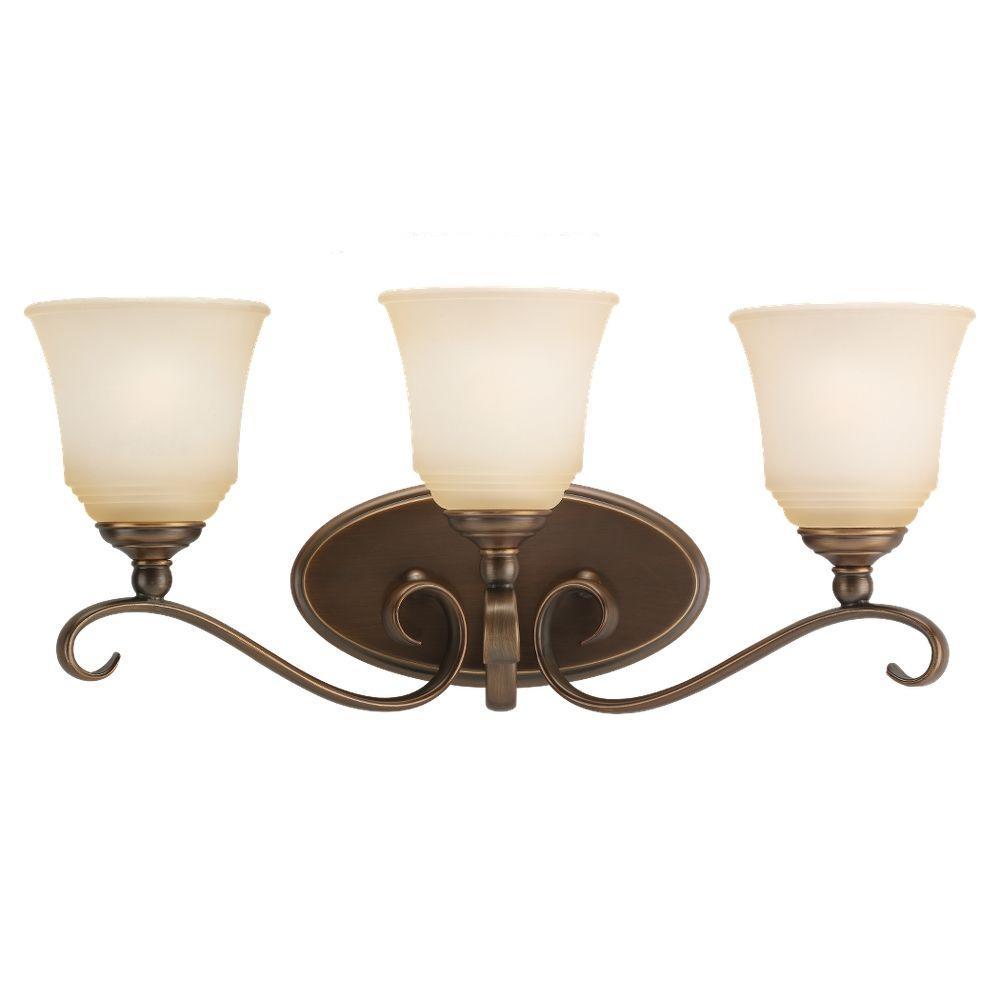 Sea Gull Lighting Parkview 3-Light Russet Bronze Vanity Light