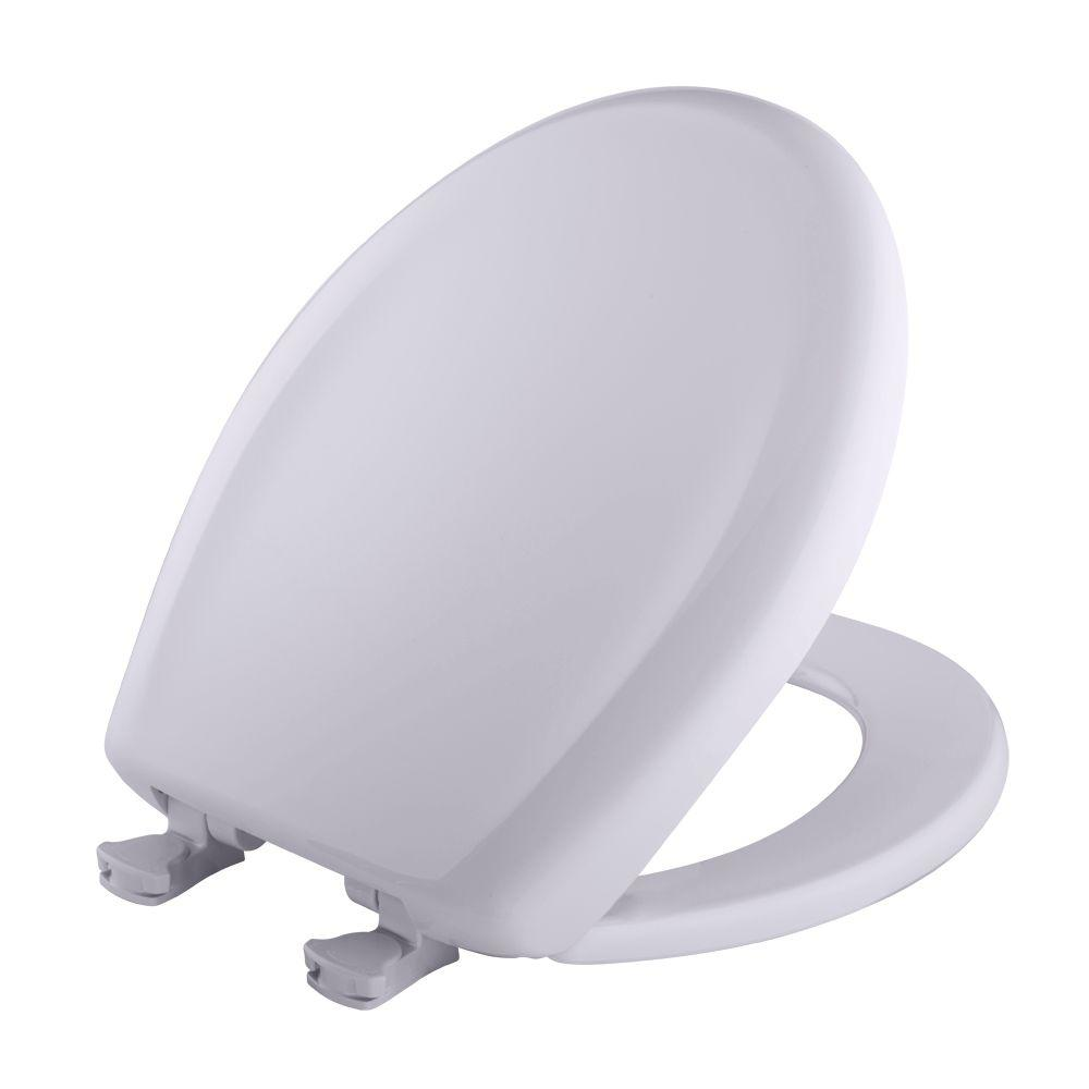 BEMIS Round Closed Front Toilet Seat in Lilac Grey
