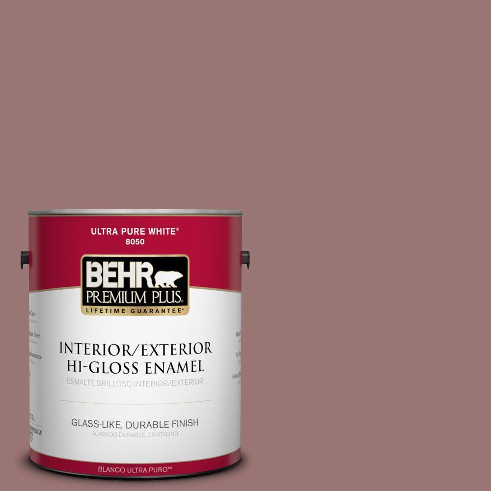 BEHR Premium Plus 1-gal. #120F-5 Hickory Stick Hi-Gloss Enamel Interior/Exterior Paint