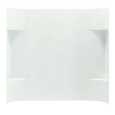 Accord Tile 1-1/4 in. x 60 in. x 55 in. 1-Piece Direct-to-Stud Back Wall in White
