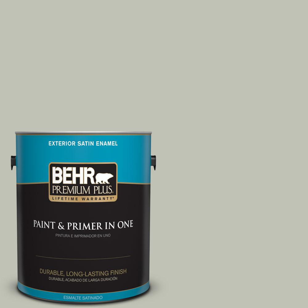 BEHR Premium Plus 1 gal. #ECC-37-1 Arbor Hollow Satin Enamel ...