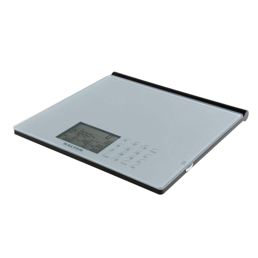 Taylor Digital Glass Nutritional Scale In Silver