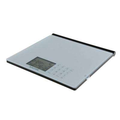 Digital Glass Nutritional Scale in Silver