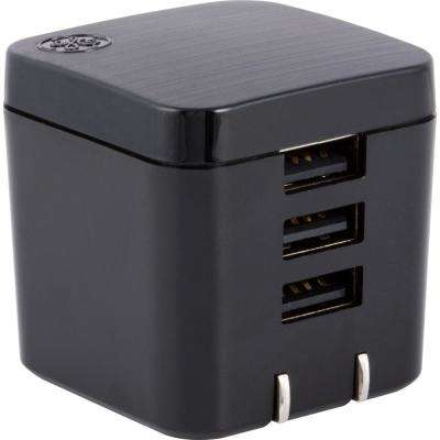 3-USB 3.4 Amp 17-Watt Pro UltraCharge Wall Charger