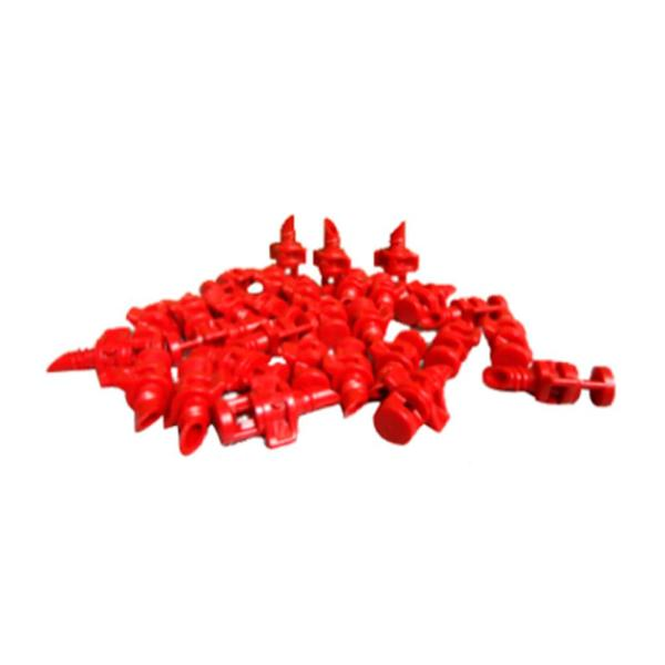 Aeroponic Red Plastic 360° Misters (50-Pack)