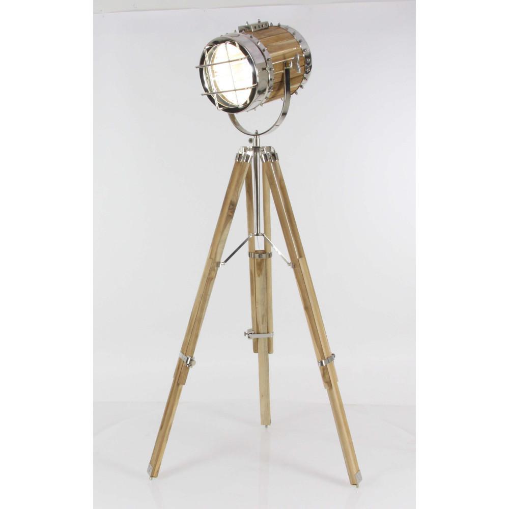 52 in. Decorative Wooden Finish Aluminium Spot Light