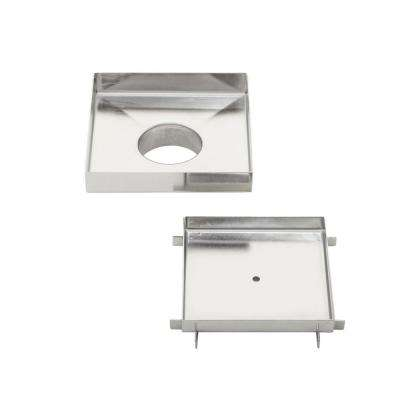 5 in. x 5 in. Stainless Steel Tile Insert Square Shower Drain