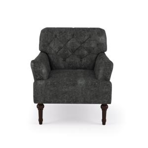 Outstanding Furniture Of America Danelle Dark Gray Faux Leather Alphanode Cool Chair Designs And Ideas Alphanodeonline