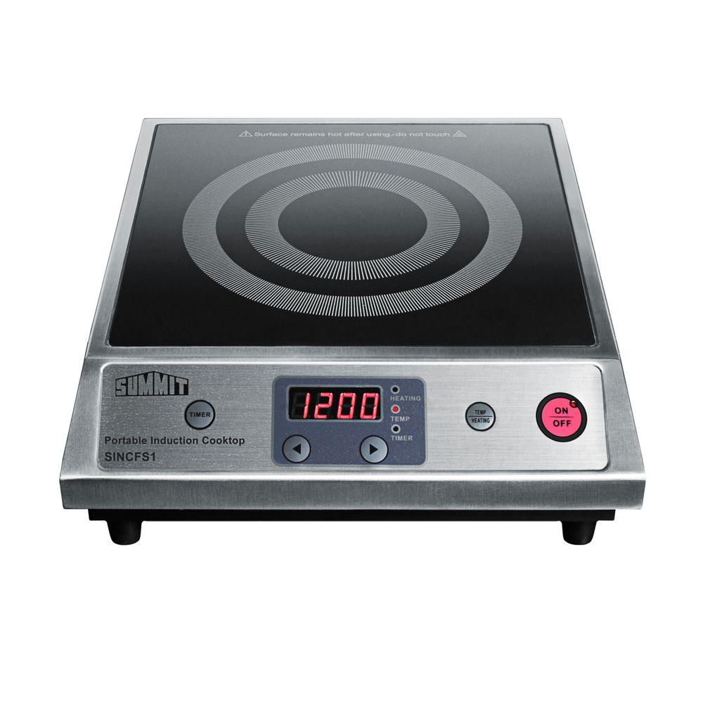 13 in. Smooth Ceramic Glass Induction Cooktop in Black with 1