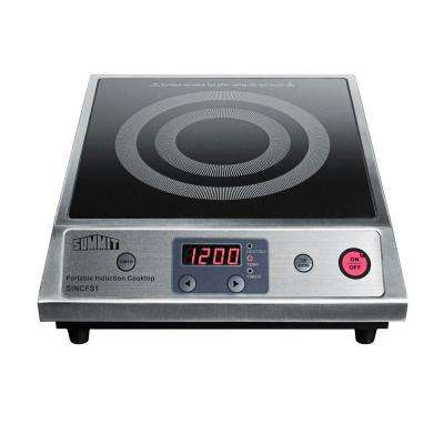 13 in. Smooth Ceramic Glass Induction Cooktop in Black with 1 Element