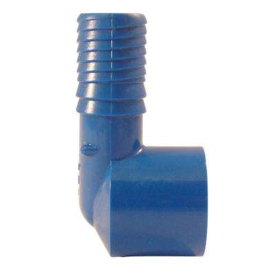 3/4 in. Blue Twister Polypropylene Insert 90-Degree x FPT Elbow