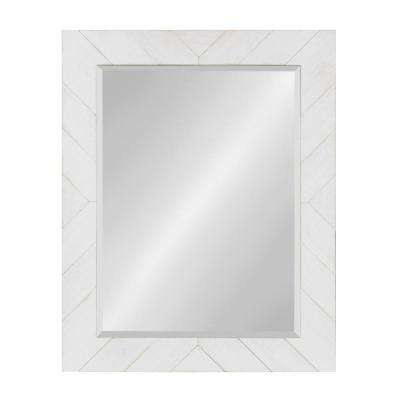 Rost Rectangle White Accent Mirror