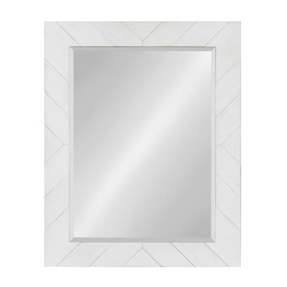 "Jolene Arch Window Pane Mirrors 27/""h X 15/""w X 1/""d - White Set Of 2"