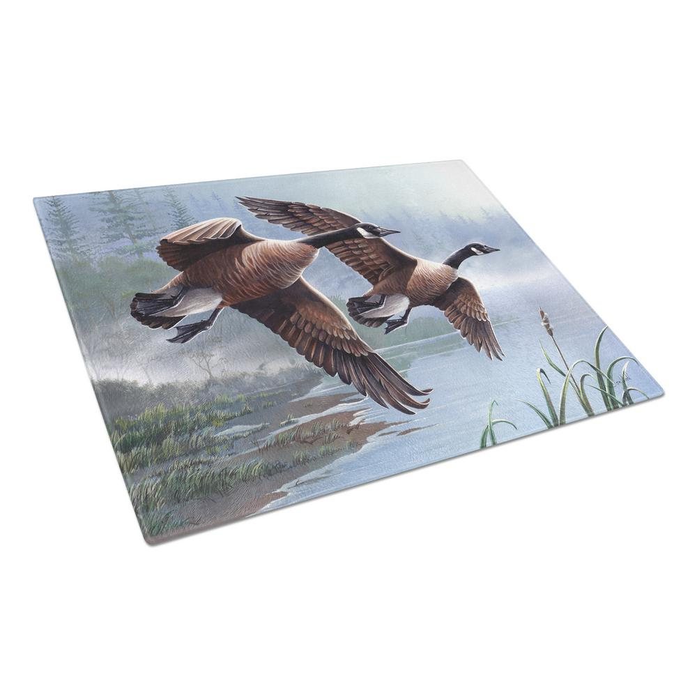 Geese on the Wing Tempered Glass Large Cutting Board